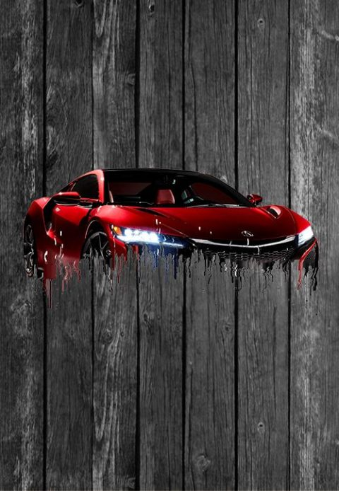 Acura_NSX_Red wallpaper
