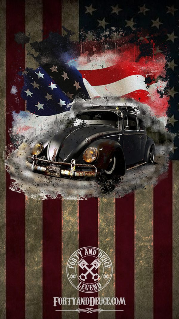 Flag USA Beetle