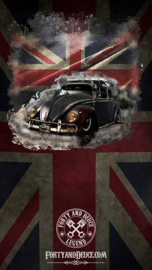 vw beetle uk flag