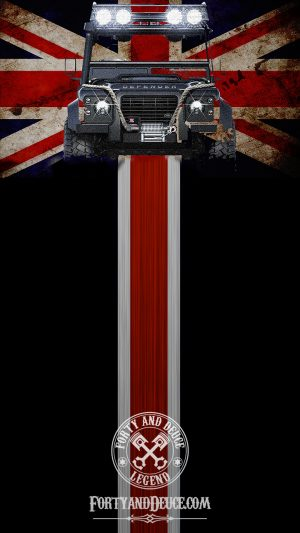 Landrover UK Flag Phone Candy 4x4