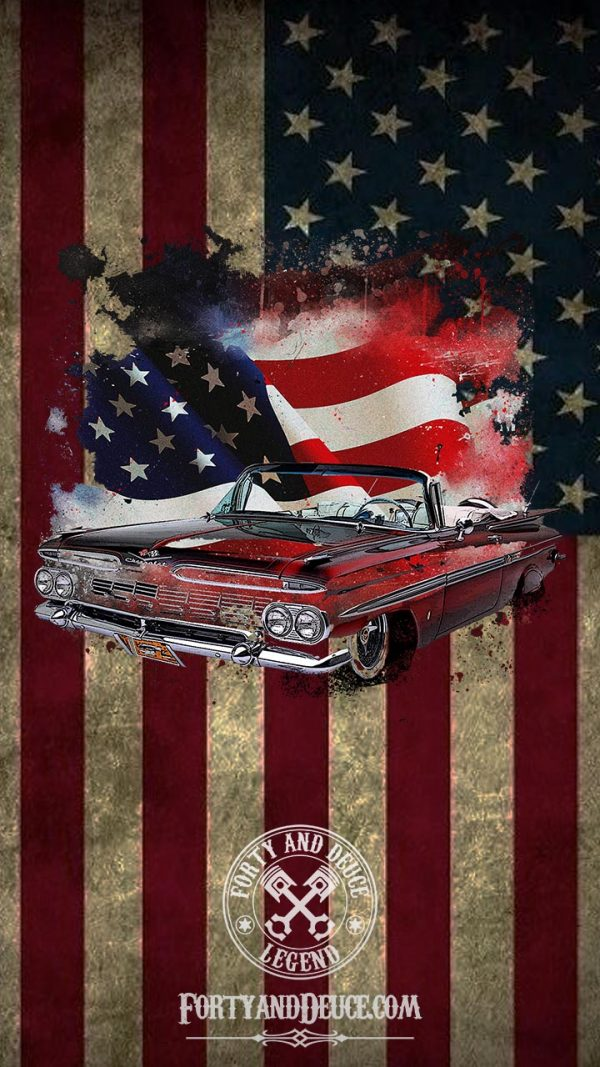 Chevrolet Impala USA Flag Phone Candy
