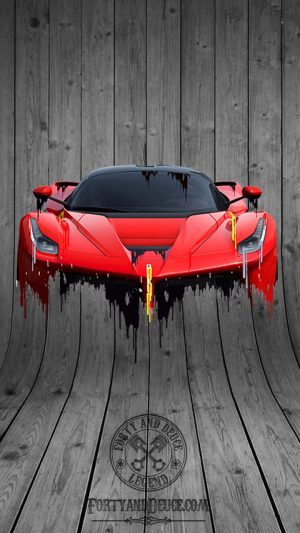 Ferarri LaFerrari Front and Back Liquid Metal