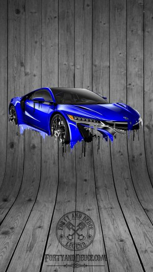 Accura NSX Blue Liquid Metal