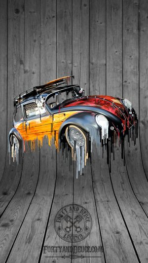 VW Volkswagen Vdub Beetle Liquid Metal